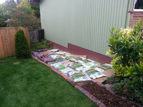 Planting bed in progress.