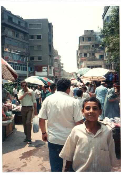 Cairo. This boy was so friendly. He wanted his photo taken thinking that we had a polaroid camera and could give him a copy.