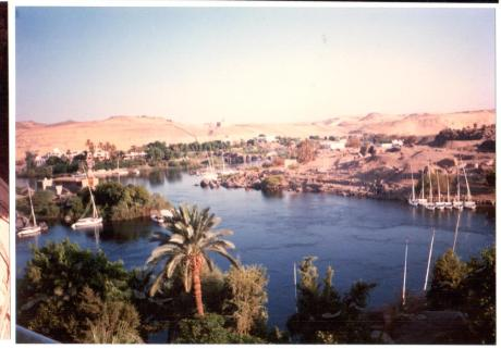 View of the Nile. I think this was taken from our hotel room in Luxor, which was the setting for Agatha Cristie's, Death on the Nile. Alternatively, it could be the view from our hotel in Aswan.