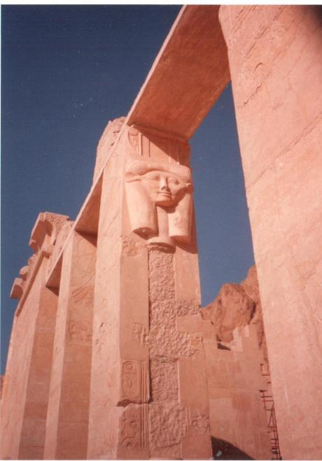 West Thebes. I think this is a detail from the Temple of Hatshepsut.