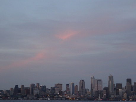 Seattle skyline across Elliot Bay.